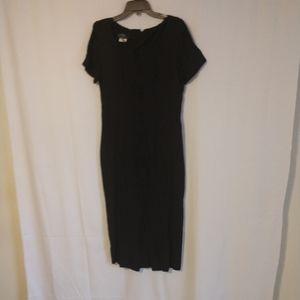 VINTAGE Dawn Joy  black button dress